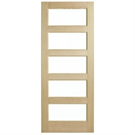 Corinthian Doors 920 x 2340 x 40mm Blonde Oak AWO 5G Clear Glass Entrance Door