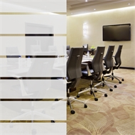 Pillar Products 0.9 x 2.0m Embossed Frosted Stripe Privacy Film