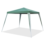 Marquee 2.4m Green and White Square Non-Permanent Gazebo
