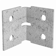 Dunnings 60 x 60 x 70mm M10 Galvanised Angle Bracket