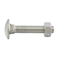 Zenith M12 x 65 Stainless Steel Cup Head Bolt and Nut