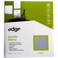 Edge 200 x 200mm Square Acrylic Mirror
