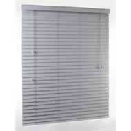 Zone Interiors 150 x 210cm 50mm PVC Long Island Venetian Blind - Grey Mist