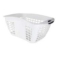 Homeleisure 45L Hip Huggers Laundry Basket - White