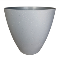 Northcote Pottery 30cm Grey Terrazzo Self Watering Pot