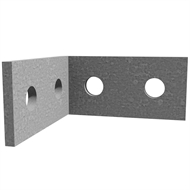 Dunnings 80 x 80 x 40 x 5mm M12 Galvanised Angle Bracket