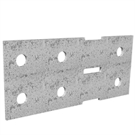 Dunnings 160 x 70mm M10 Galvanised Bracket Plate