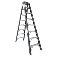Rhino 2.4m 150kg Double Sided Industrial Fibreglass Step Ladder