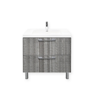 Forme 800mm Grey Ash Cabin Floor Vanity