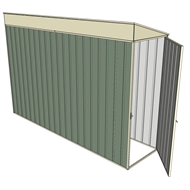 Build-a-Shed 0.8 x 3 x 2m Hinged Door Tunnel Shed - Green
