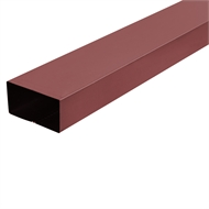 COLORBOND 0.4 x 100 x 50mm x 1.8m Steel Downpipe - Manor Red
