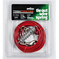 Taskmaster 5mm x 30ft Long Tie Out Wire with Spring