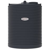 Polymaster 4500L Tall Round Corrugated Poly Water Tank - Ironstone