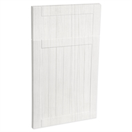Kaboodle 450mm Country Premium Vinyl 1 Door / 1 Drawer Panel - White Forest