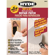 Wet and Set Plaster Repair 127x381mm Patch Hyde \