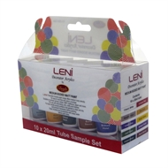 Leni 20ml Decorator Acrylics Matt Paint - 10 Pack