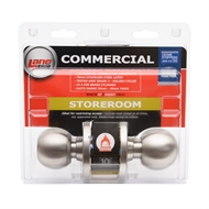 Lane Security Satin Stainless Steel Fire Rated K8 Series Storeroom Knob Set
