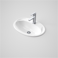 Caroma 565 x 395mm White Centro Vanity Basin With 3 Tap Holes