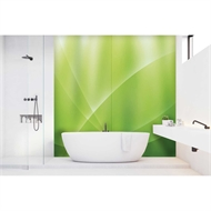 Bellessi 1220 x 2000 x 6mm Motiv Polymer Bathroom Panel - Green Horizon