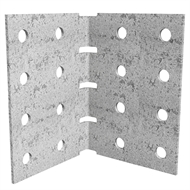 Dunnings 100 x 100 x 140mm M10 Galvanised Angle Bracket