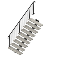 Weldlok Monostringer Concrete And Wire 9 Tread Stair Kit