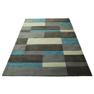 Hufflett 160 x 230cm Blue Bricks Rug