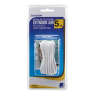 Jackson 5m White Telephone Lead - RJ12 to RJ12 6P4C