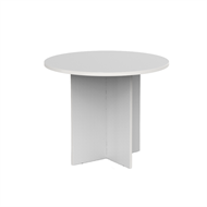 CeVello Round Meeting Table 900mm White