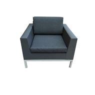 Mimosa Aluminium Ancona Sling Single Seater Lounge Chair