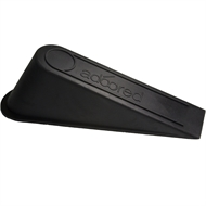 Adoored Black Rubber Door Wedge - 3 Pack