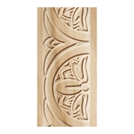 Porta 33 x 10mm 2.4m White Oak Flower Embossed Wall Trim Moulding