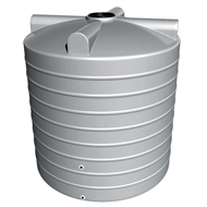 Flexdrive Rotomoulding 10400L Polyethylene Round Water Tank - Armour Grey