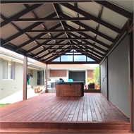 Softwoods 4.8 x 6.0m Colorbond Gable Roof Free Standing Pergola Kit