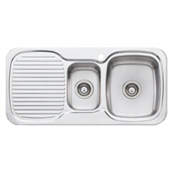 Oliveri LakeLand 1 And 1/2 Bowl Inset Sink With Drainer