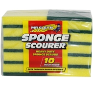 Mr Clean Sponge Scourer - 10 Pack