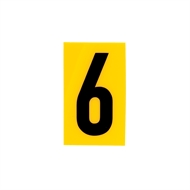 Sandleford 60 x 35mm 6 Yellow Cut Out Self Adhesive Numeral