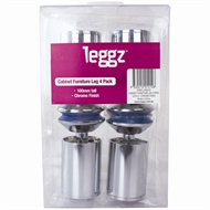 Leggz 100mm Round Metal Cabinet Furniture Legs - 4 pack