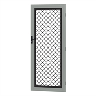 Protector Aluminium 808-848 x 2030-2070mm Adjustable Grille Barrier Door - Palladium Silver