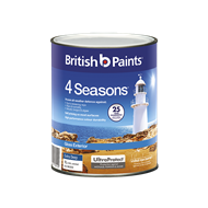 British Paints 4 Seasons 1L Low Sheen Extra Deep Exterior Paint