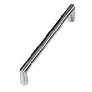 Kaboodle 128mm Brushed Stainless Steel Round Bar Handle
