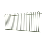 Protector Aluminium 2450 x 1200mm Loop Top Ulti-M8 Fence Panel - Pale Eucalypt
