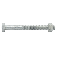 Zenith M12 x 120mm Hot Dipped Galvanised Hex Head Bolts And Nuts - 12 Pack