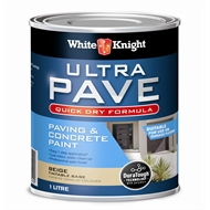 White Knight 1L Beige Ultra Pave Quick Dry Paint