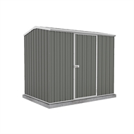 Garden Pro 2.26 x 1.52 x 1.95m Gable Roof Single Door Shed - Grey