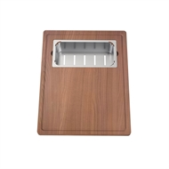 Clark Prism Chopping Board And Stainless Steel Colander Set