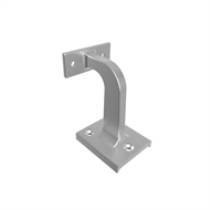 Architects Choice Silver Aluminium Offset Handrail Straight Mount Bracket - 2 Pack