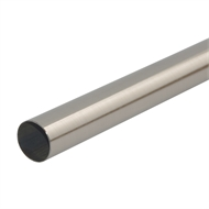 Pillar Products 2.0m x 25mm Brushed Chrome Curtain Conduit Pillar