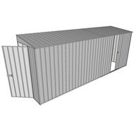 Build-A-Shed 1.2 x 5.2 x 2.0m Zinc Tunnel Shed Tunnel Hinged Door with 1 Sliding Side Door - Zinc