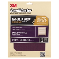 Sandblaster™ 150 Grit Medium Bare Surface Sandpaper - 3 Pack