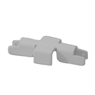 Flexi Storage White Wall Strip Joiner - 2 Pack